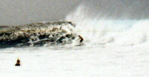 Unknown Surfer at La Santa Right