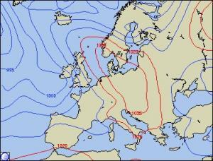 Luftdruckkarte von Wetteronline.de