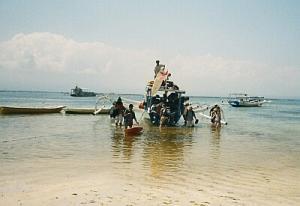 Ankunft auf Nusa Lembogan