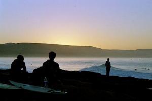 wenige Minuten vor Sonnenaufgang bei Anchor Point