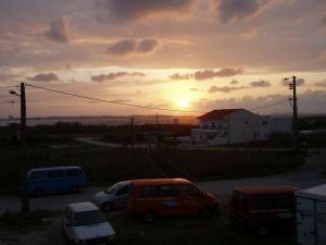 Sunset von der Campdachterasse