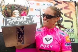 Image caption: Cori Schumacher, 2010 ASP Women's World Longboard Champion  [ASP/Aquashot]