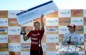 CAPTION: Stephanie Gilmore (AUS), TSB Bank NZ Surf Festival champion! PIC ASP/Robertson.