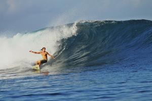 Indonesische Perfektion, und wieder ganz allein im Wasser