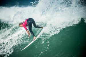 Courtney earned herself a high 9 for this rooster tail © SWATCH/Daher