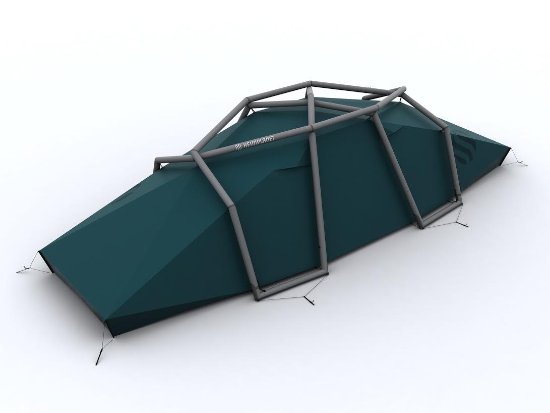 HEIMPLANET präsentier t zwei neue aufblasbar e Zelte!