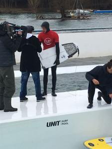 Lukas beim Interview mit dem WDR